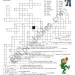 Crossword Puzzle   Present Perfect   Esl Worksheetluoliveira   Printable Crossword Puzzles Simple Present