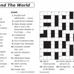 Crossword Puzzle Printable Large Print Crosswords ~ Themarketonholly   Printable German Crossword Puzzles