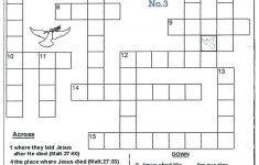 Christian Crossword Puzzles Printable