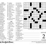Crossword Puzzle Printable New York Times Crosswords   Printable Nyt Crossword Puzzles Free