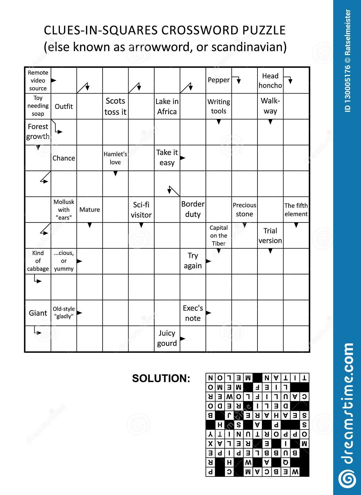 Crossword Puzzle Stock Illustrations – 6,365 Crossword Puzzle Stock - Printable Arrow Crossword Puzzles For Free
