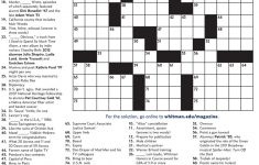College Crossword Puzzle Printable