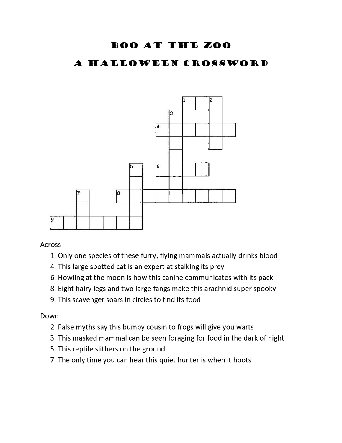 Crossword Puzzles For 5Th Graders | Activity Shelter - Printable Crossword Puzzles For Grade 7