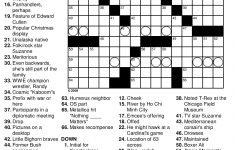 Printable Crossword Puzzle For High School Students
