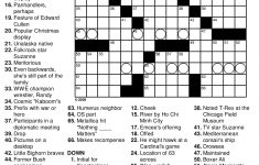 Printable Crossword Puzzles For December 2017