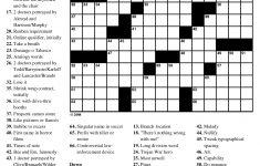 Printable Crossword Puzzles No Download