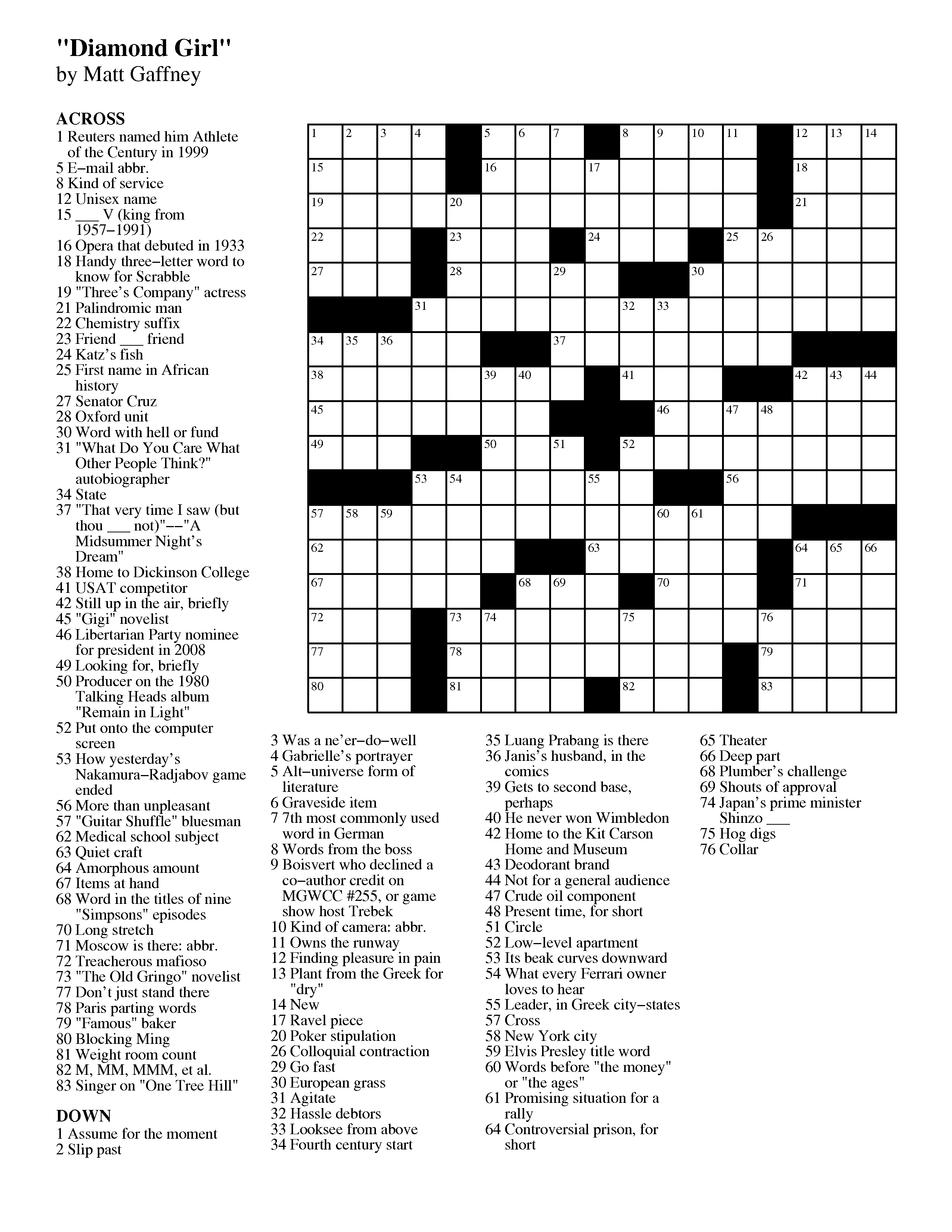 Crossword Puzzles Printable - Yahoo Image Search Results | Crossword - Usa Today Crossword Puzzle Printable