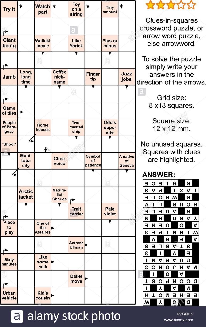 Crossword Puzzles Words Stock Photos & Crossword Puzzles Words Stock - Printable Arrow Crossword Puzzles For Free