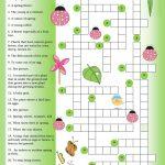 Crossword Spring Worksheet   Free Esl Printable Worksheets Made   Printable Crossword Puzzles Spring