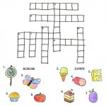 Crossword To Practice. Food | Storybook Activities | Hungry   Printable Crossword Puzzle For Kindergarten