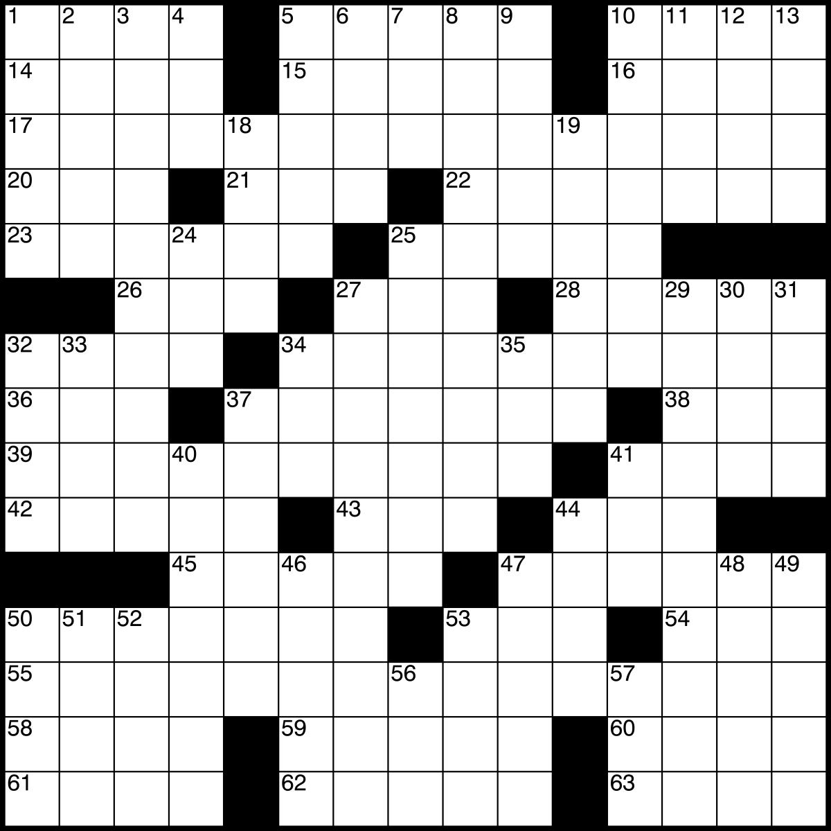 Crossword - Wikipedia - Printable Blank Crossword Puzzles