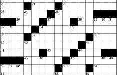 Printable Clueless Crossword Puzzles
