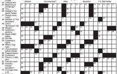 Printable Daily Crossword 2018