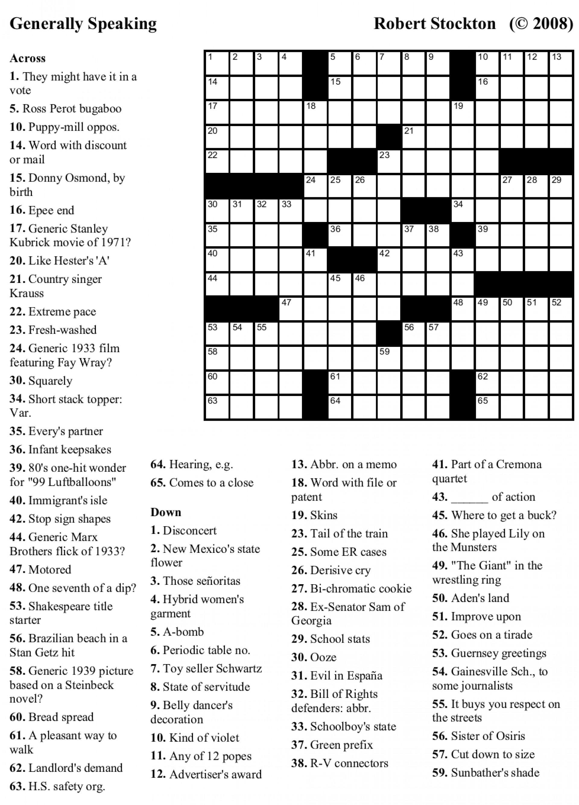 Crosswords Crossword Puzzles Printable Free Usa Today - Usa Printable Crossword Puzzles