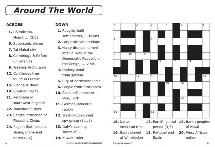Free Printable Crossword Puzzle Template