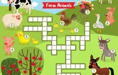 Printable Crossword Puzzle Animals