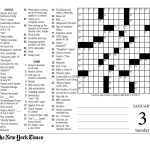 Crosswords Sunday Crossword Puzzle Printable ~ Themarketonholly   Free Printable Nyt Crossword Puzzles