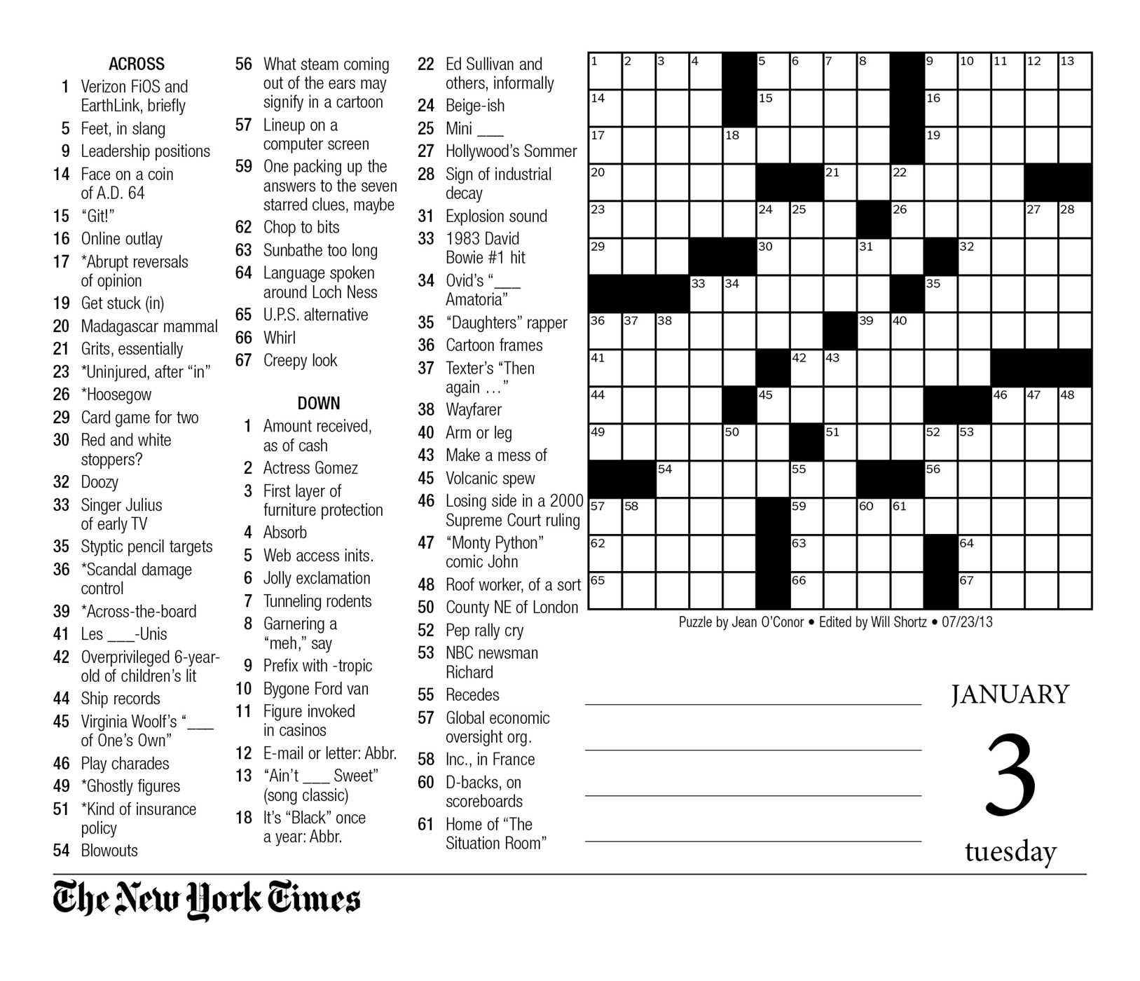 Crosswords Sunday Crossword Puzzle Printable ~ Themarketonholly - Printable Crosswords La