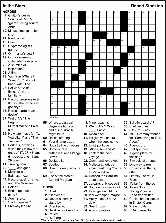 Crosswords To Print Amp Crossword Puzzles Free Line Printable Themed - Printable Themed Crossword Puzzles
