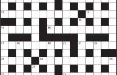 Printable Cryptic Crossword
