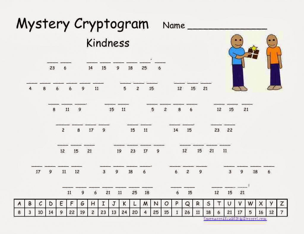Cryptograms! | Cjrl: Kids Zone With Regard To Free Printable - Free - Printable Quiptoquip Puzzles