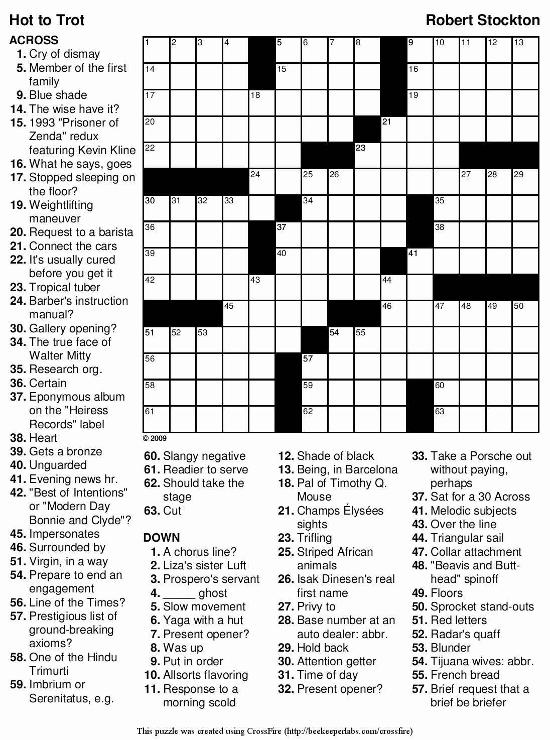 Daily Crossword Puzzle Printable – Rtrs.online - Printable Crossword Puzzles Difficult