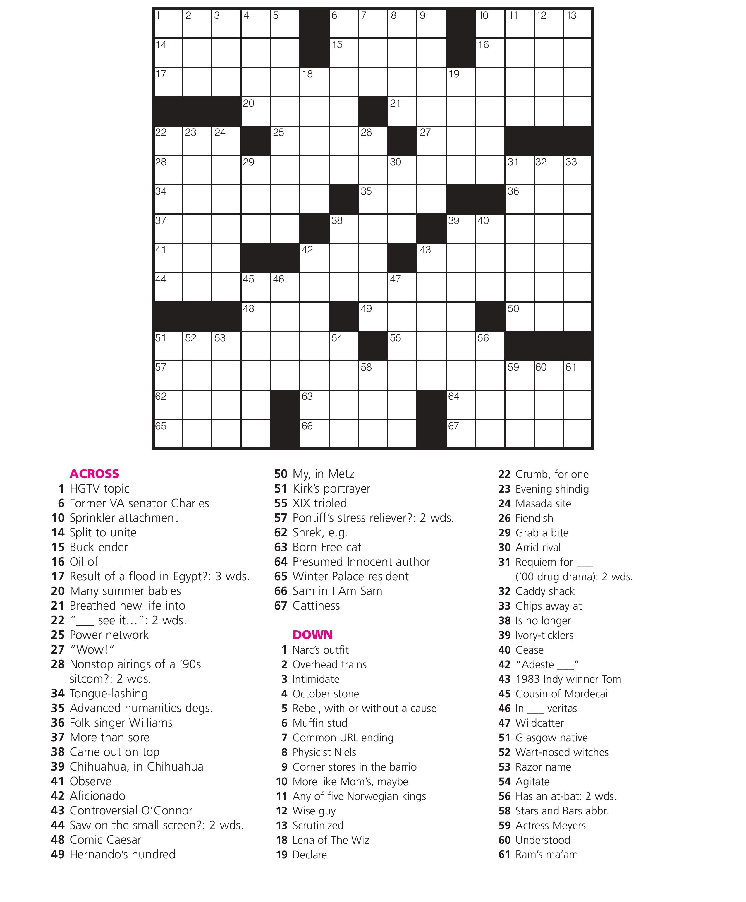 December 21: Crossword Puzzle Day – Games World Of Puzzles - Printable Crossword Puzzles For December 2018