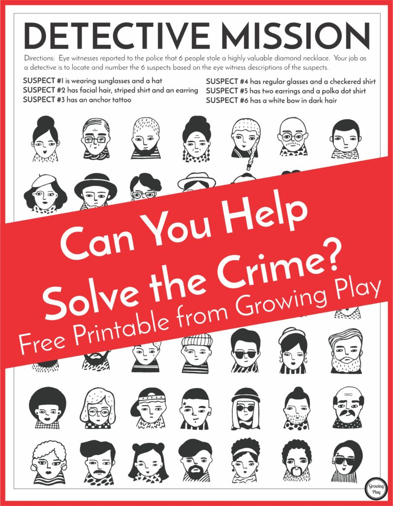 Detective Puzzle For Kids - Free Printable - Growing Play - I Spy Puzzles Printable