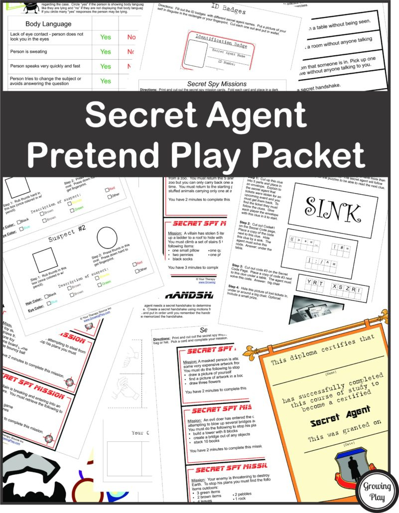 Detective Puzzle For Kids - Free Printable - Growing Play - Printable Puzzle Packet
