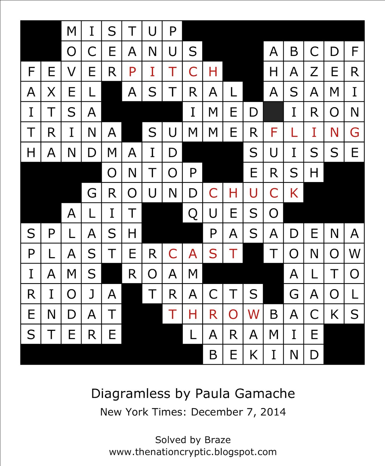 Diagramless Crossword Puzzles - Printable Diagramless Crossword Puzzles
