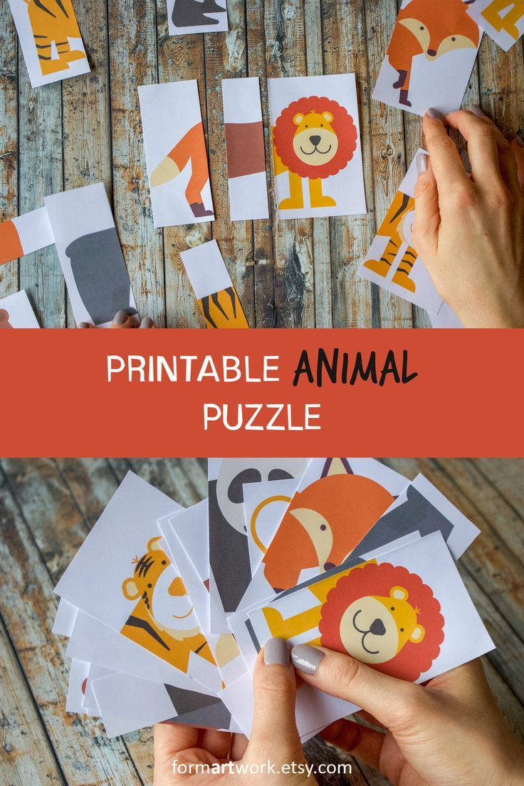 Diy Kids Animal Puzzle Printable - Children Reception Activity - Fun - Printable Animal Puzzle