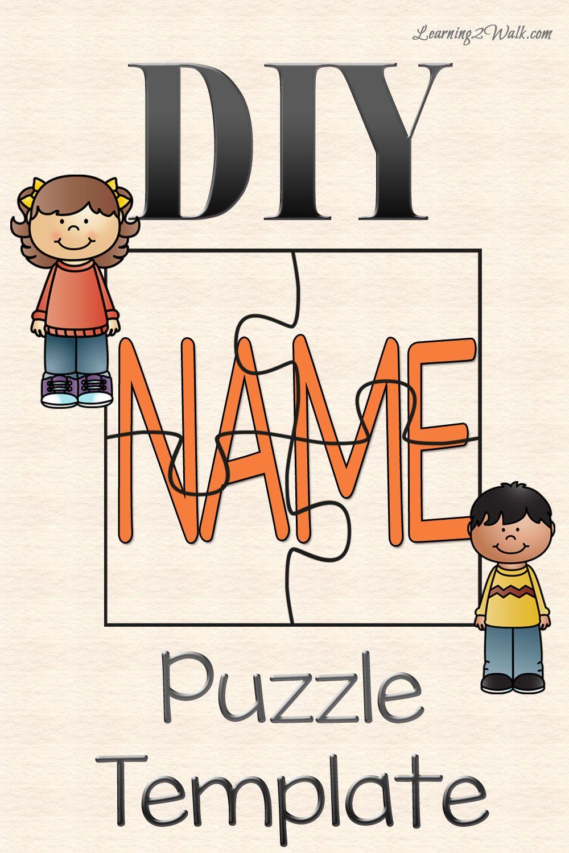 Diy Name Puzzle Template | Preschool | Name Puzzle, Preschool - Printable Name Puzzles For Preschoolers