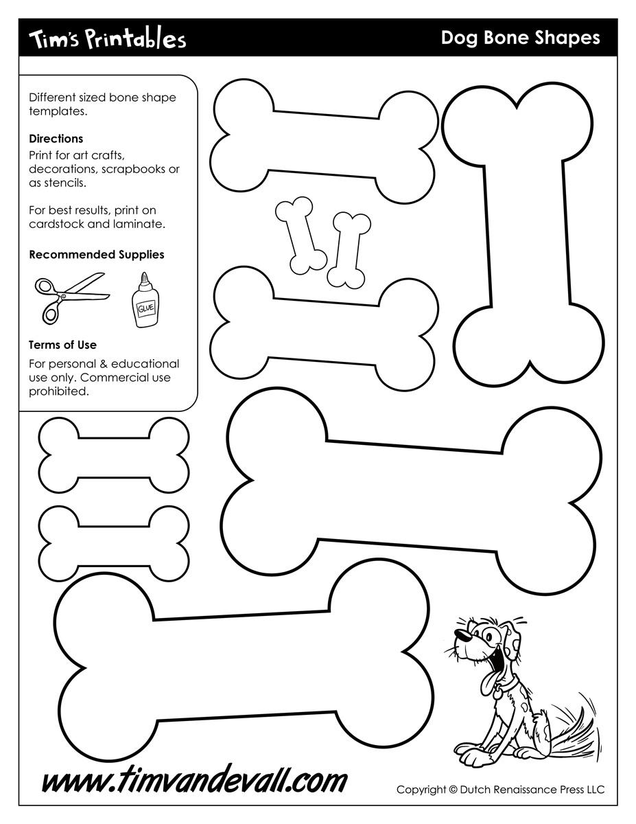 Dog Bone Shapes - Tim's Printables - Free Printable Dog Puzzle