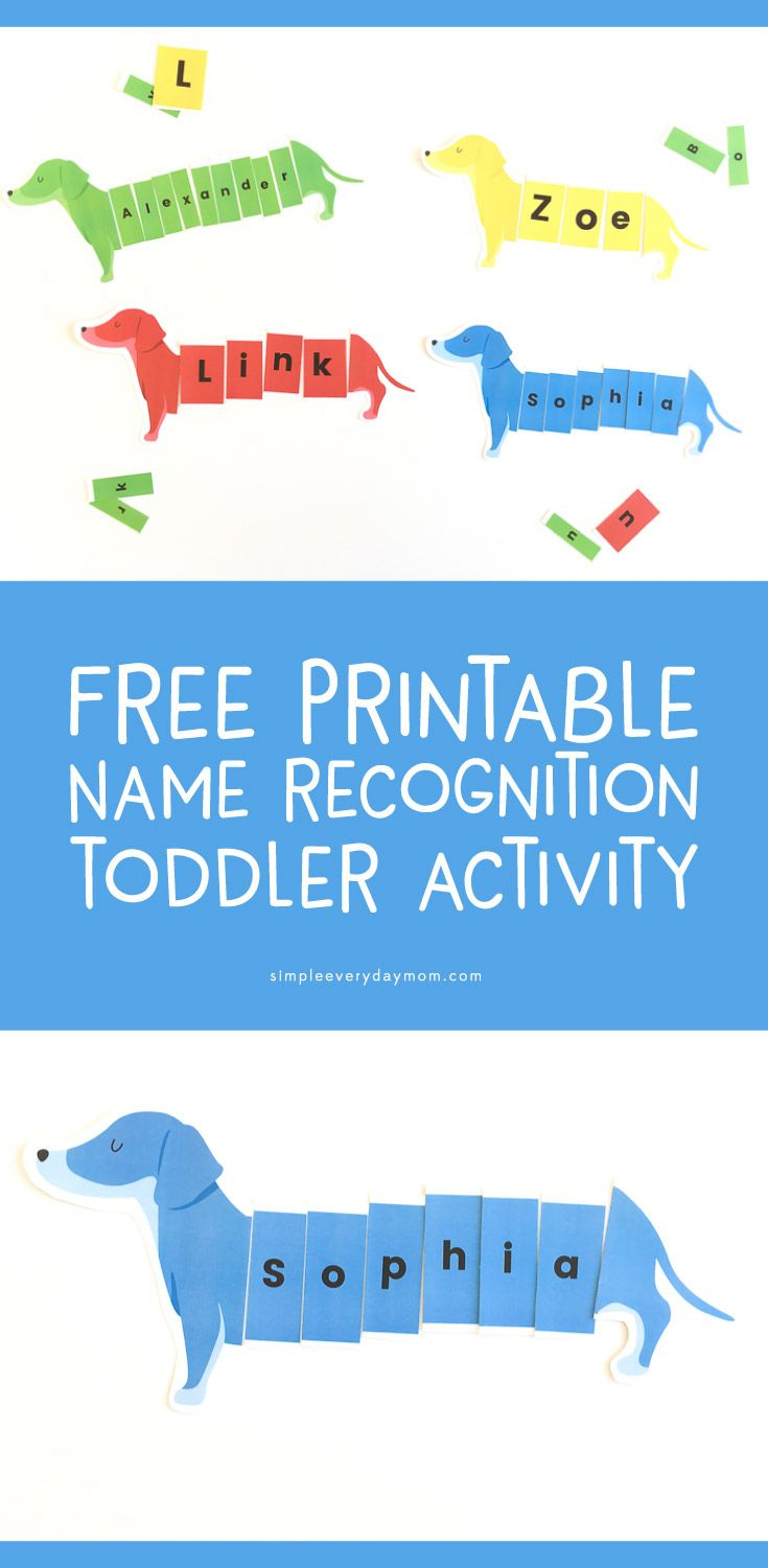 Dog Puzzle Name Activity | Simple Everyday Mom | Printable - Printable Dog Puzzles