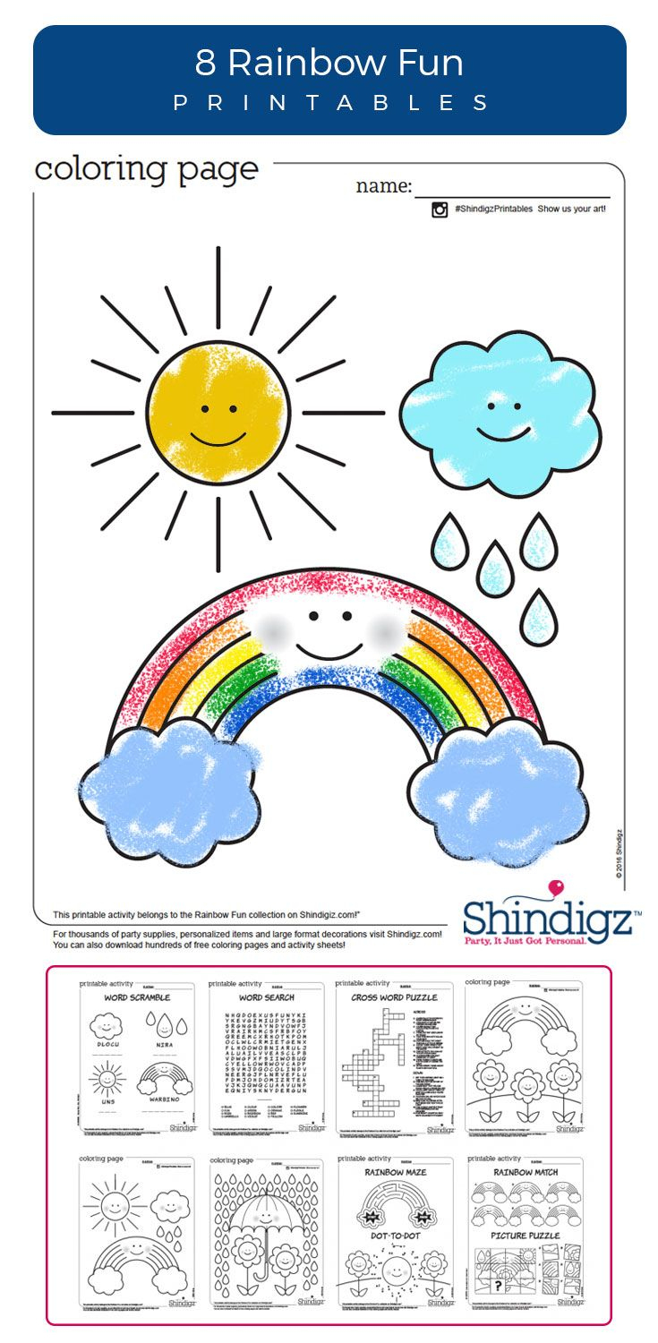 Don't Let Rainy Days Get You Down, Have A Blast With Rainbow Themed - Printable Rainbow Puzzle
