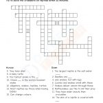Download Grade 4 Science Pdf Worksheet (Crossword) On Animals   Printable Science Crossword Puzzles