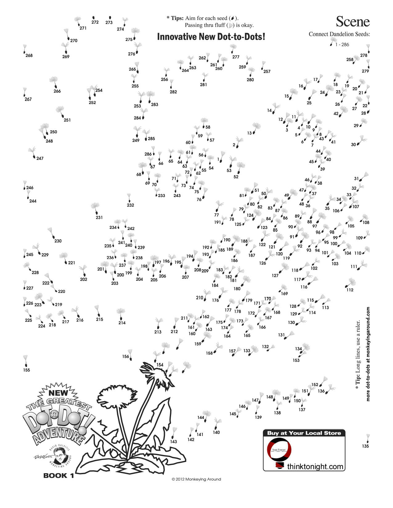 Downloadable Dot-To-Dot Puzzles - Printable Dot Puzzle