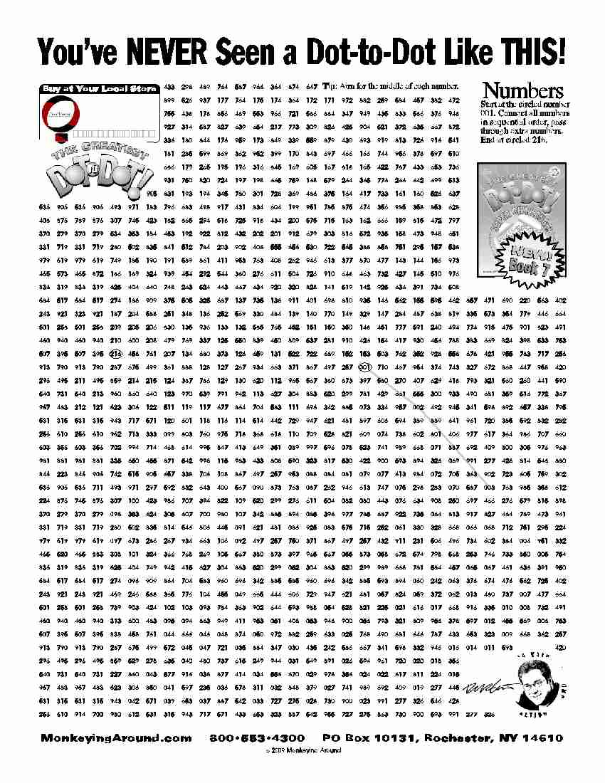 Downloadable Dot-To-Dot Puzzles - Printable Puzzles For Adults Pdf
