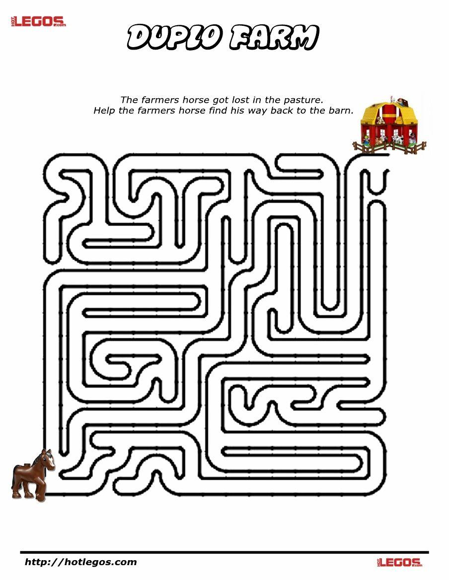 Duplo Farm Puzzle Maze. Free Printable   Lego Fun Stuff   Maze - Printable Paper Puzzles