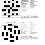 √ Printable English Crossword Puzzles With Answers   Printable English Crossword Puzzles