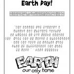 Earth Day Cryptogram Puzzle Solution | Class Decorations | Earth Day – Printable Puzzles Cryptograms