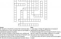Printable Science Crossword Puzzles