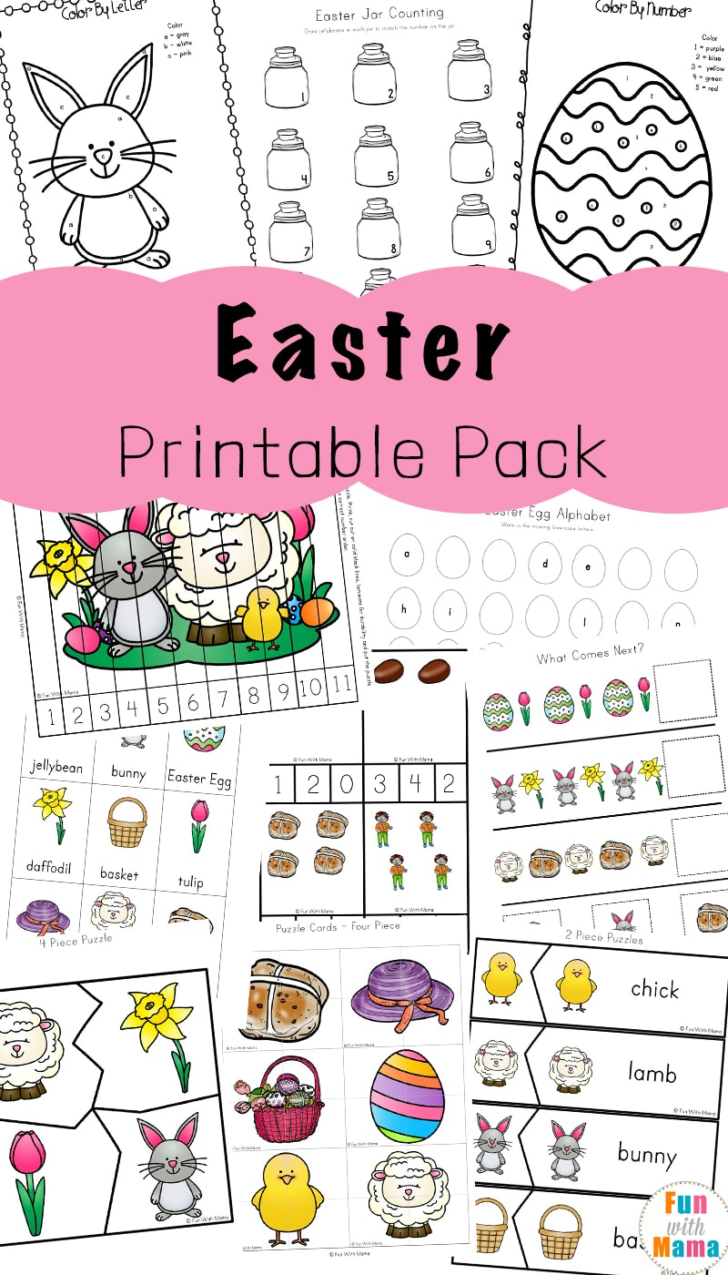 Easter Activities For Toddlers And Preschool Printables - Fun With Mama - Printable Bunny Puzzle