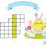 Easter Activity. Educational Children Game. Crossword With Answer   Printable Puzzle For Toddlers