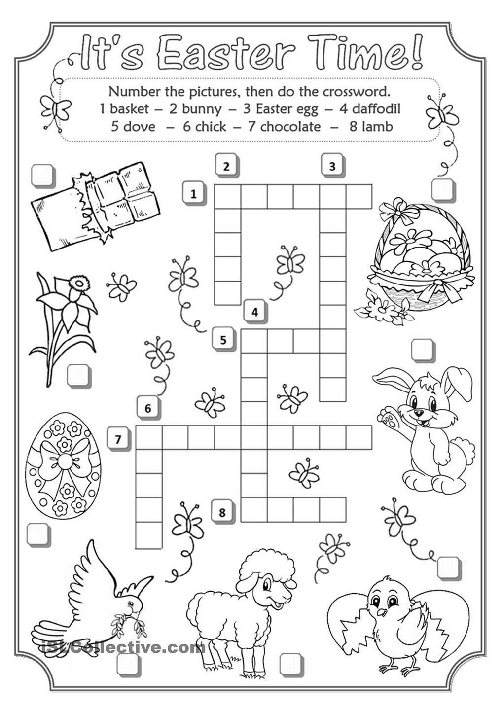 Easter Crossword   Teaching English   Easter Crossword, Easter - Easter Crossword Puzzle Printable Worksheets