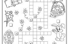 Printable Crossword Easter