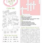 Easter Kid's Activity Sheet Free Printables Available @party – Easter Crossword Puzzle Printable Worksheets