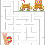 Easter Maze Puzzle | Free Printable Puzzle Games   Printable Labyrinth Puzzles