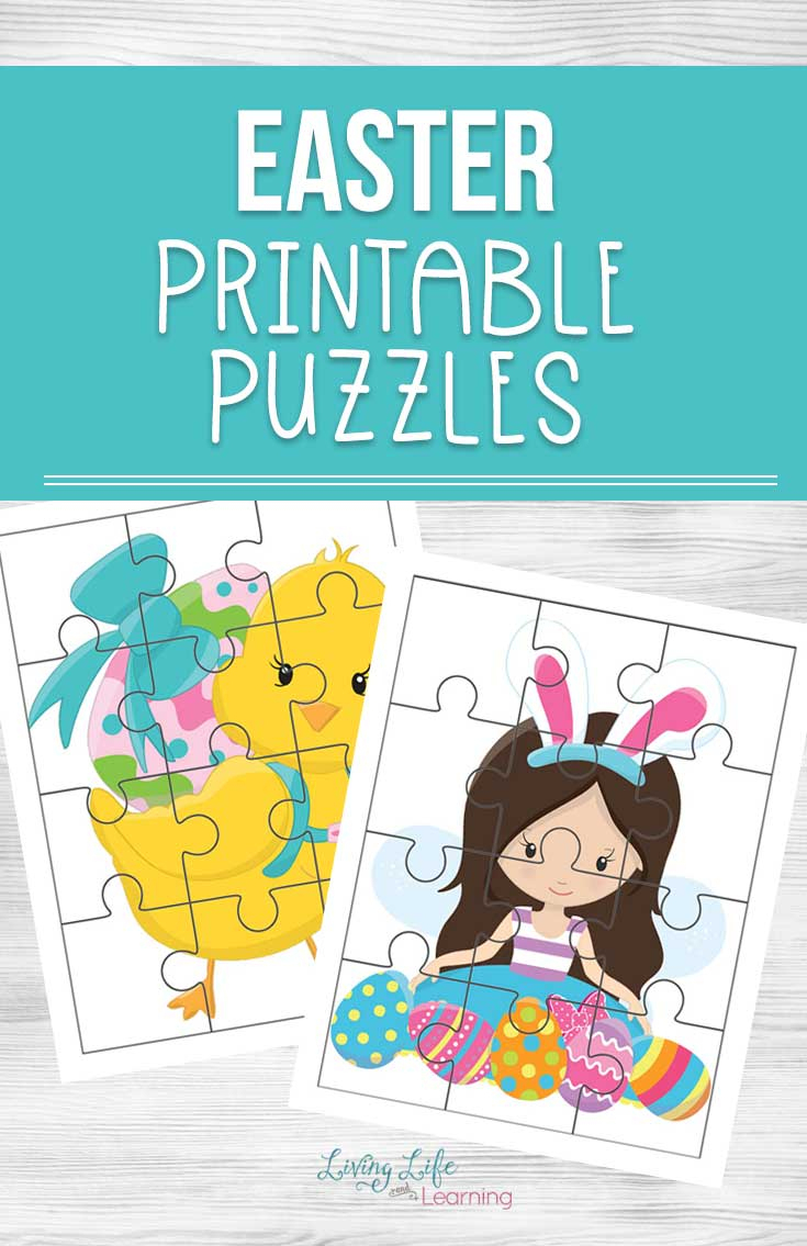 Easter Printable Puzzles - Printable Bunny Puzzle