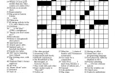 Easy Celebrity Crossword Puzzles Printable – Printable Crossword Celebrity